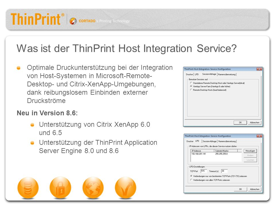 Was ist der ThinPrint Host Integration Service
