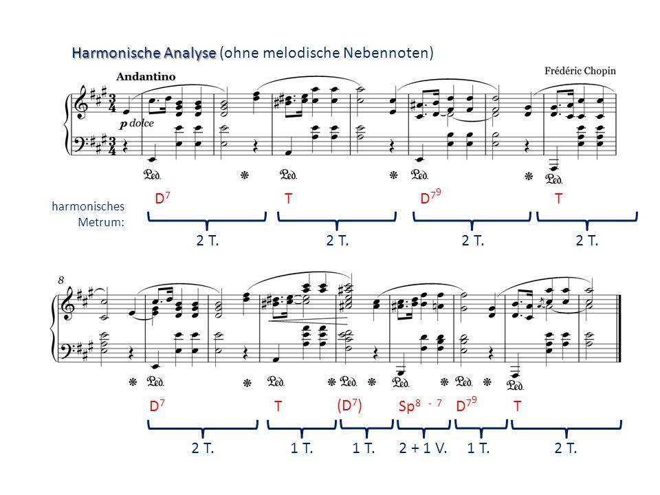 Harmonische Analyse (ohne melodische Nebennoten)