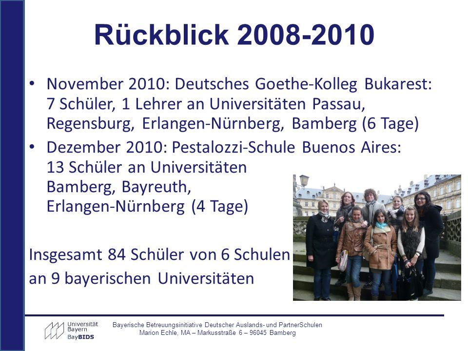 Rückblick 2008-2010