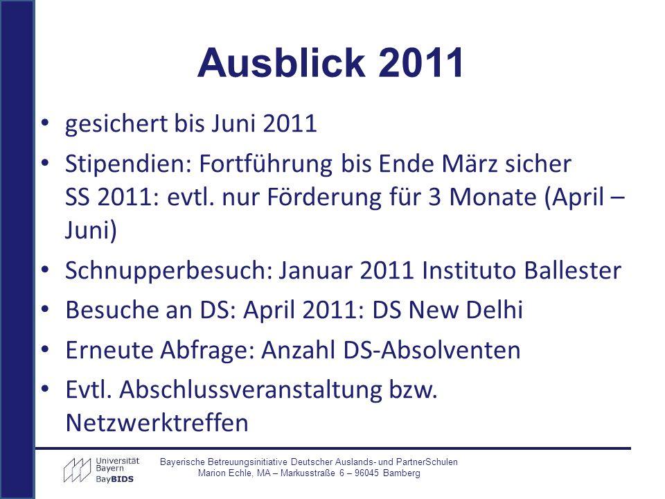 Ausblick 2011 gesichert bis Juni 2011