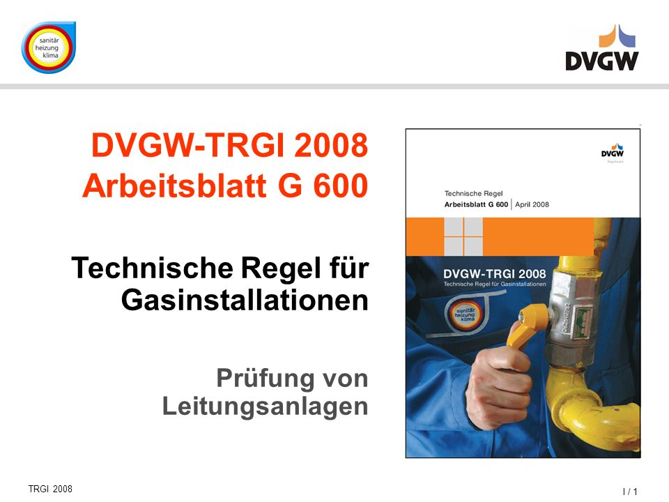 DVGW-TRGI 2008 Arbeitsblatt G 600