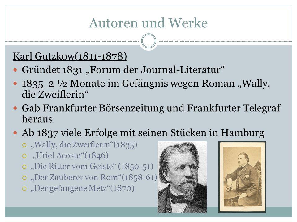 Autoren und Werke Karl Gutzkow(1811-1878)