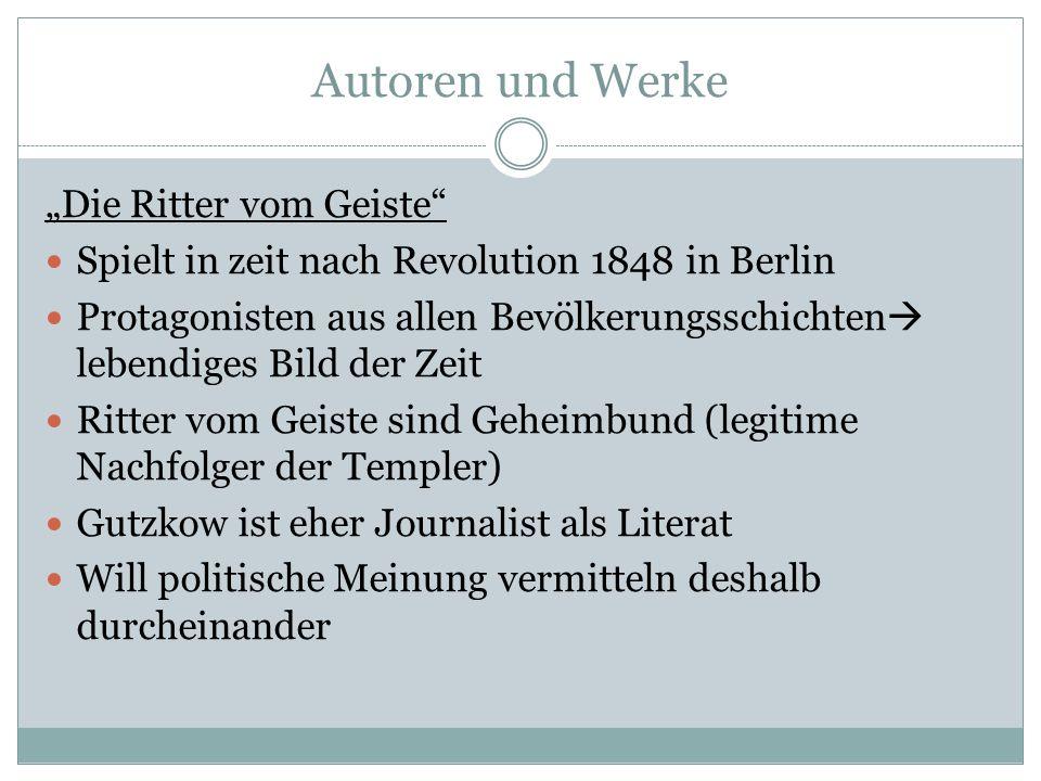 """Autoren und Werke """"Die Ritter vom Geiste"""
