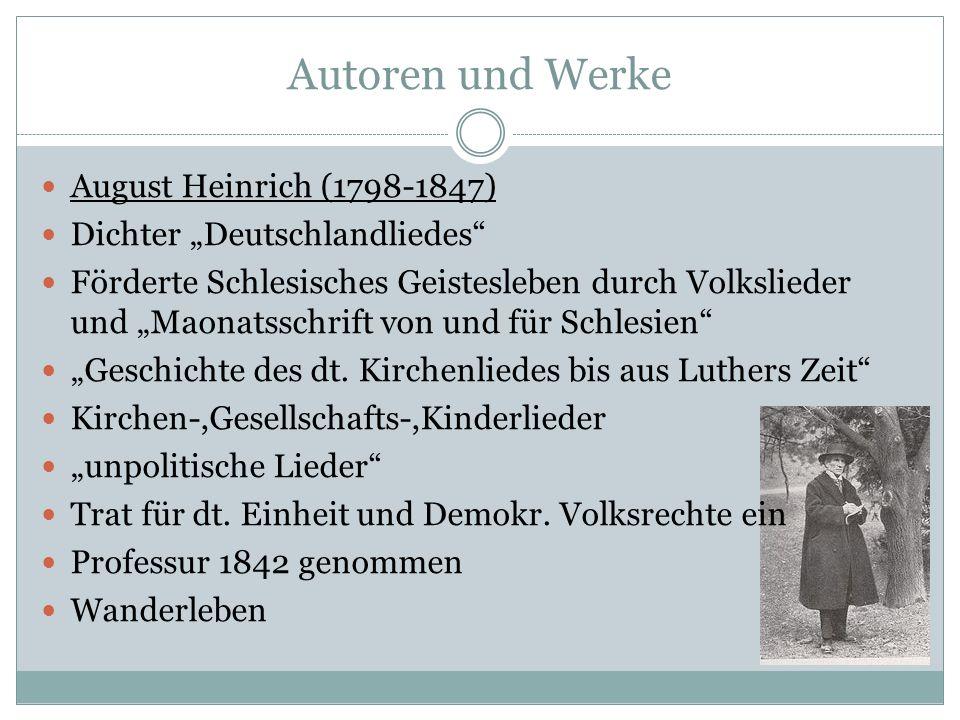 Autoren und Werke August Heinrich (1798-1847)