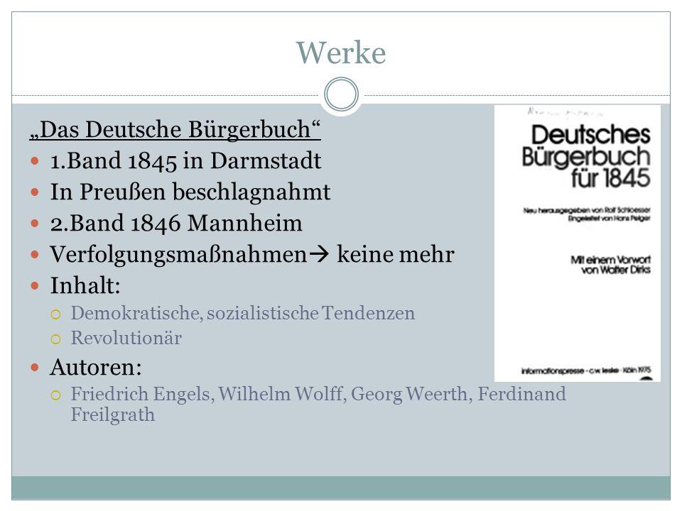 """Werke """"Das Deutsche Bürgerbuch 1.Band 1845 in Darmstadt"""