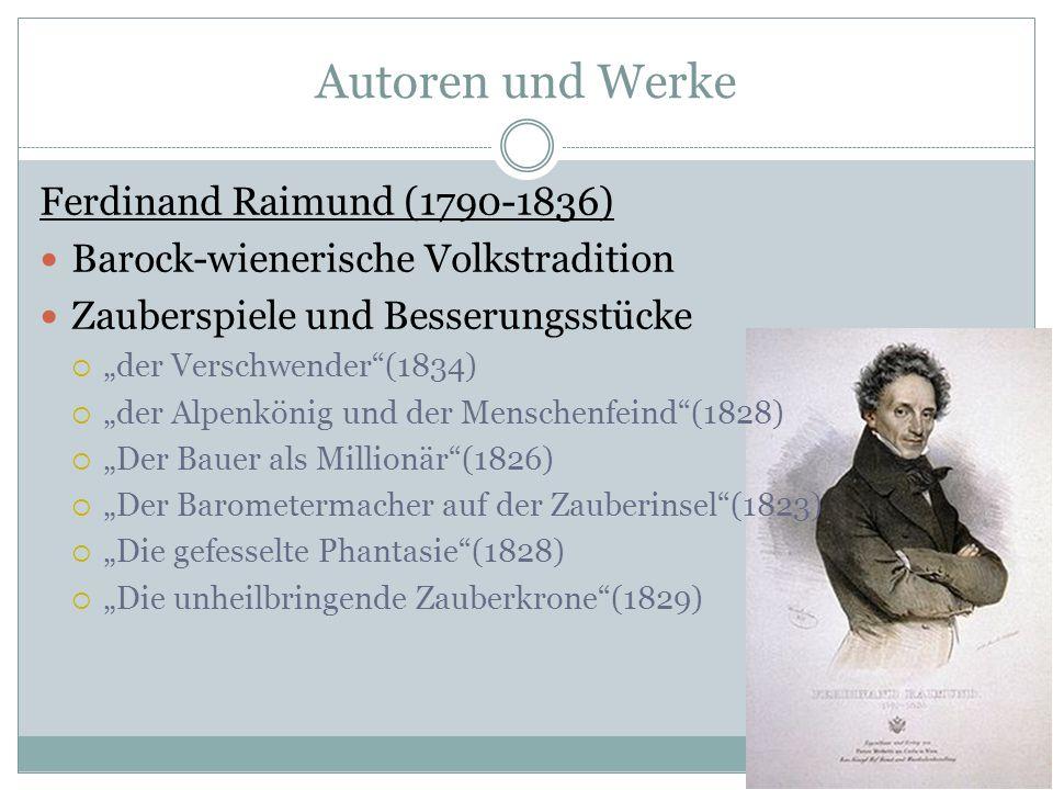 Autoren und Werke Ferdinand Raimund (1790-1836)