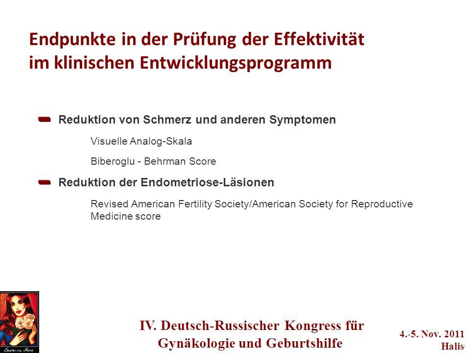 Endpunkte in der Prüfung der Effektivität im klinischen Entwicklungsprogramm