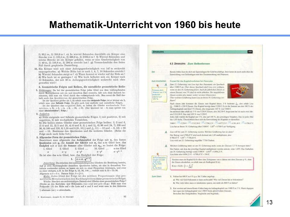 Mathematik-Unterricht von 1960 bis heute