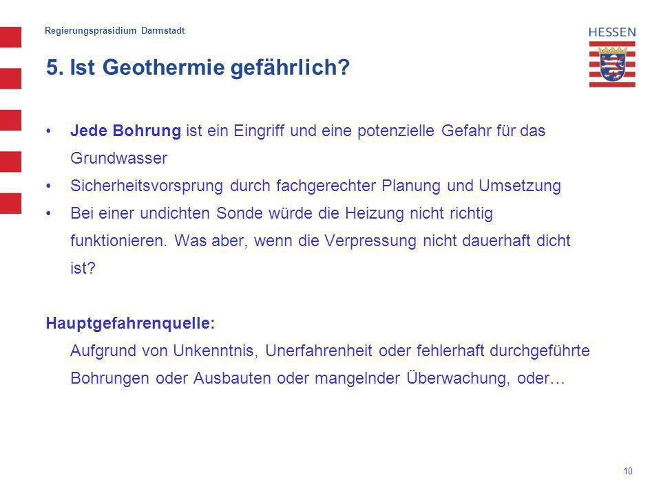 5. Ist Geothermie gefährlich