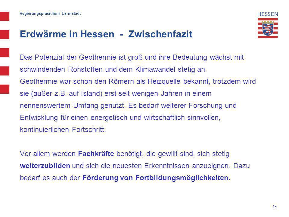 Erdwärme in Hessen - Zwischenfazit