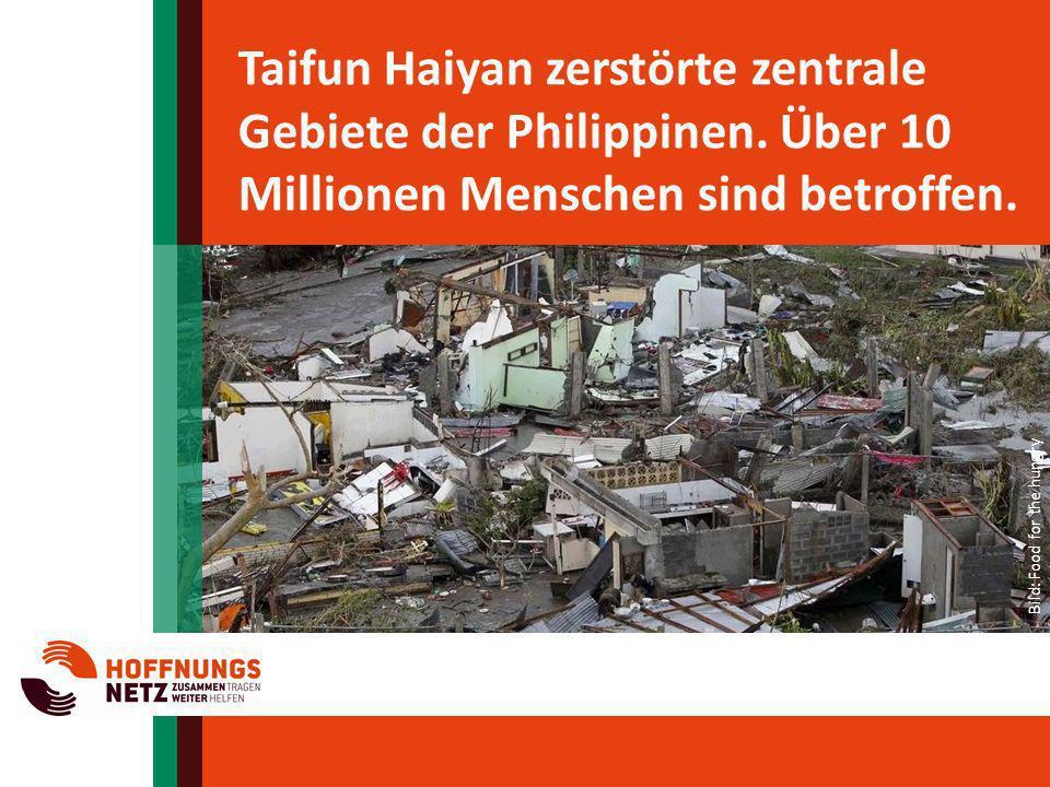 Taifun Haiyan zerstörte zentrale Gebiete der Philippinen
