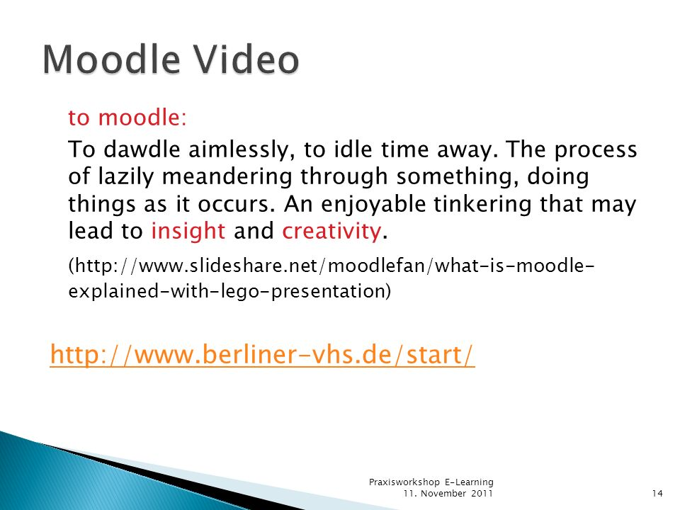 Moodle Video to moodle: