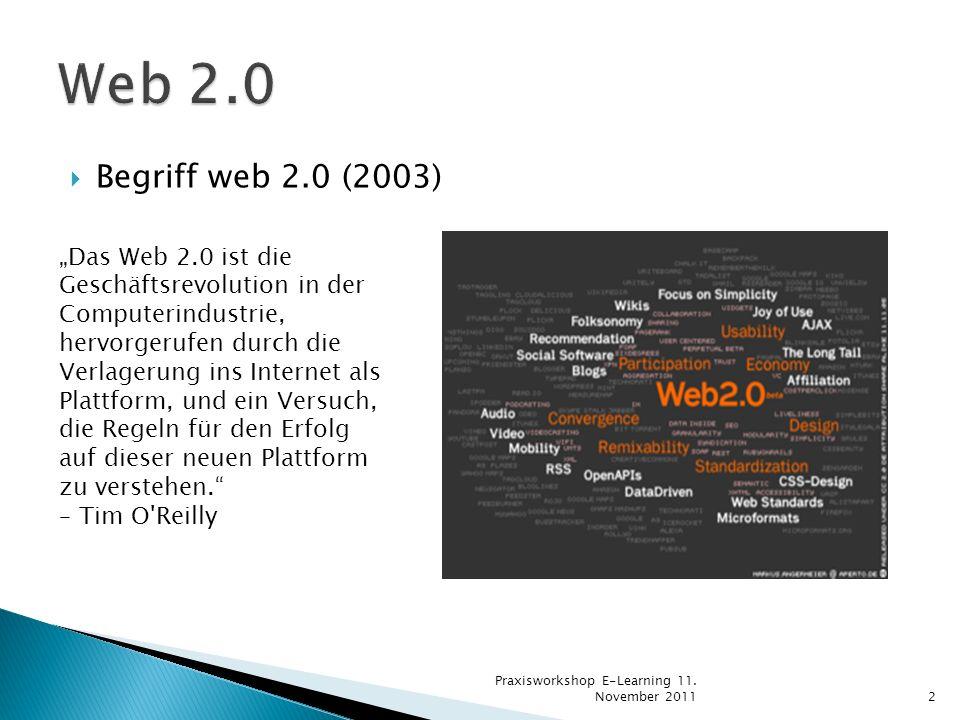 Web 2.0 Begriff web 2.0 (2003)