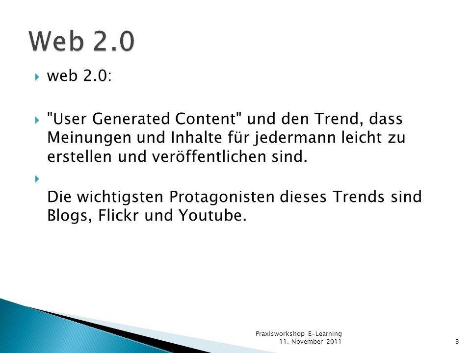Web 2.0 web 2.0: User Generated Content und den Trend, dass Meinungen und Inhalte für jedermann leicht zu erstellen und veröffentlichen sind.