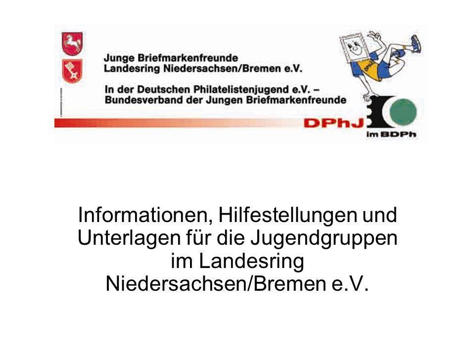 Informationen, Hilfestellungen und Unterlagen für die Jugendgruppen im Landesring Niedersachsen/Bremen e.V.