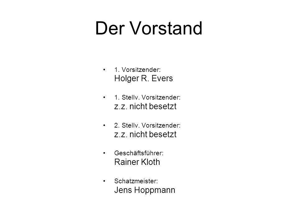 Der Vorstand Holger R. Evers z.z. nicht besetzt Rainer Kloth