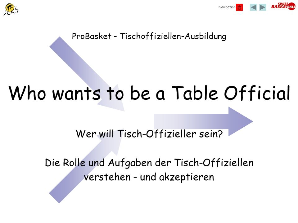 Who wants to be a Table Official