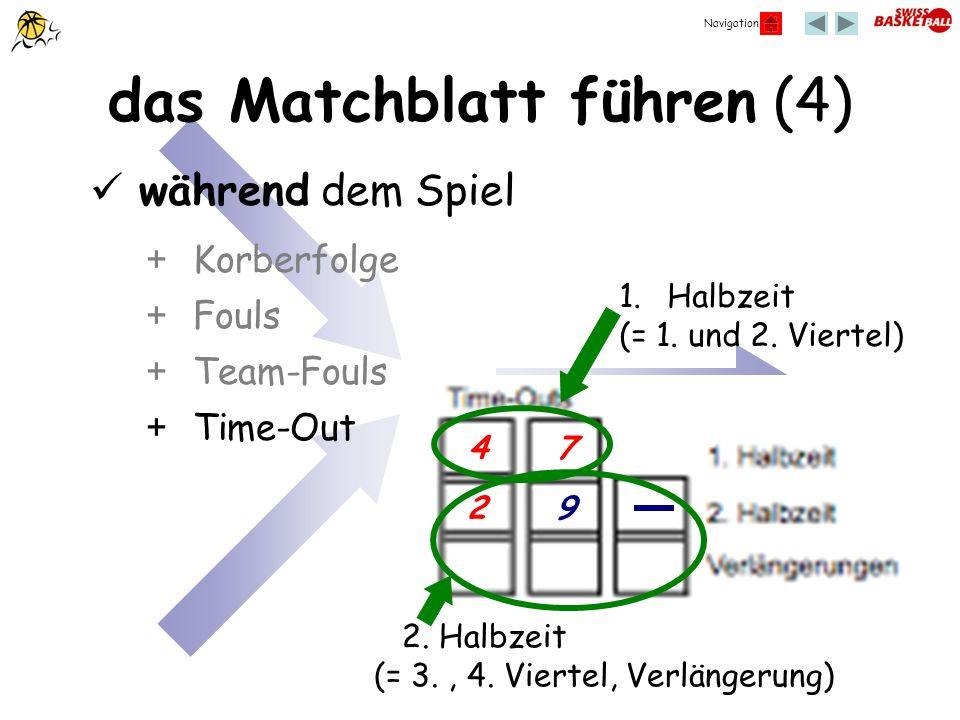 das Matchblatt führen (4)