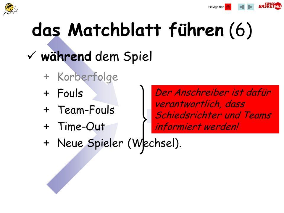 das Matchblatt führen (6)