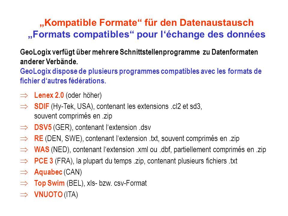 """""""Kompatible Formate für den Datenaustausch"""