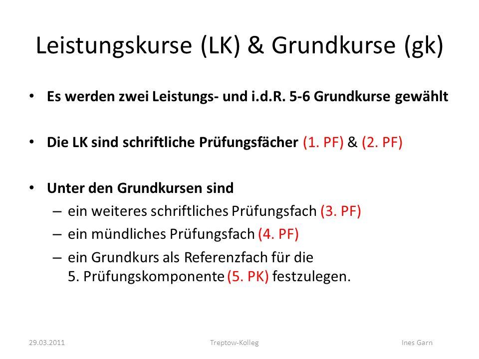 Leistungskurse (LK) & Grundkurse (gk)
