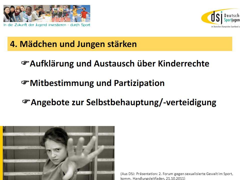 19.01.2012 DSB B+W SH (Aus DSJ: Präsentation: 2. Forum gegen sexualisierte Gewalt im Sport, komm.