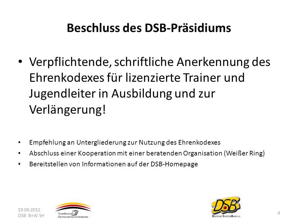 Beschluss des DSB-Präsidiums