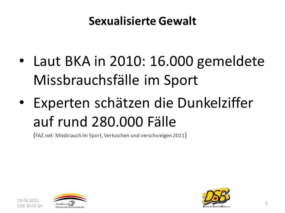 Laut BKA in 2010: 16.000 gemeldete Missbrauchsfälle im Sport