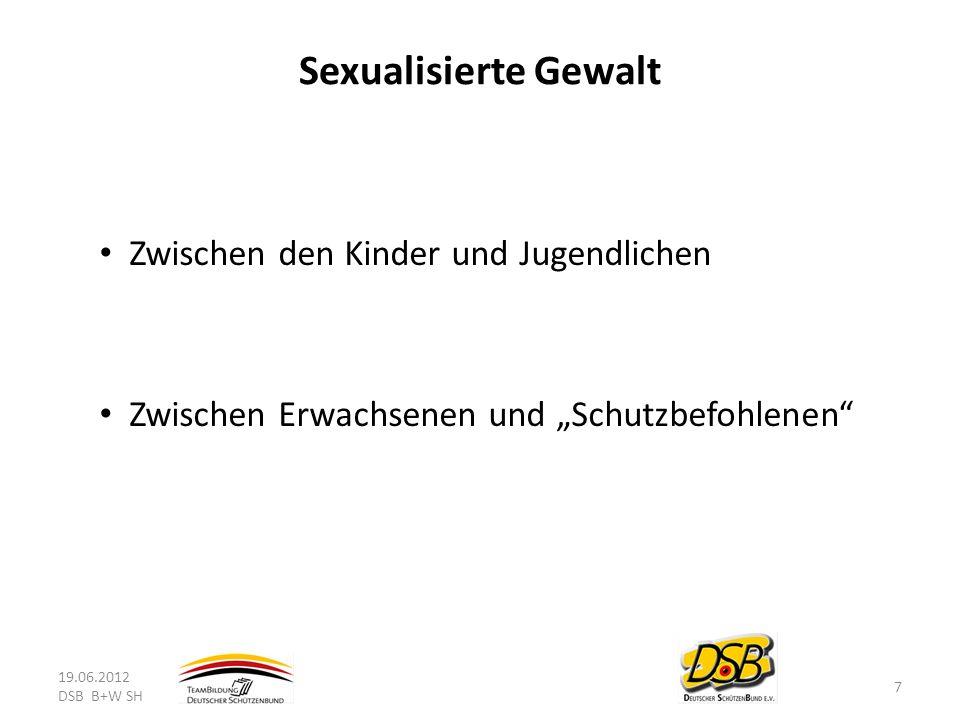 Sexualisierte Gewalt Zwischen den Kinder und Jugendlichen