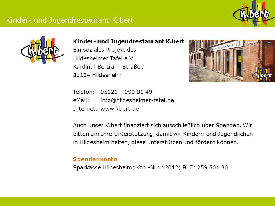 Kinder- und Jugendrestaurant K.bert