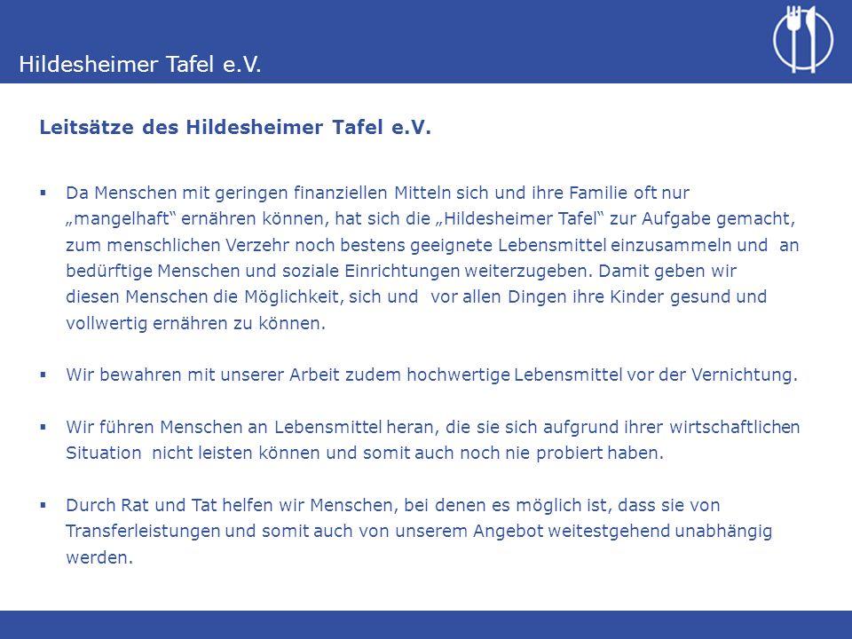 Leitsätze des Hildesheimer Tafel e.V.