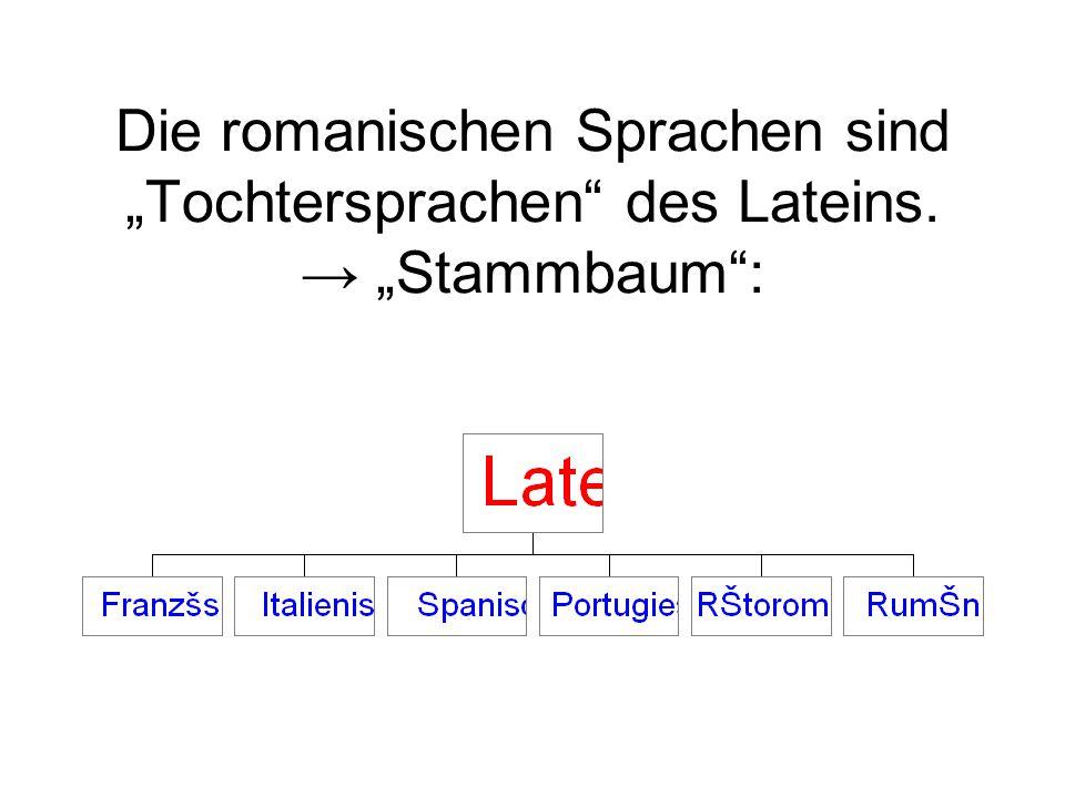 """Die romanischen Sprachen sind """"Tochtersprachen des Lateins"""