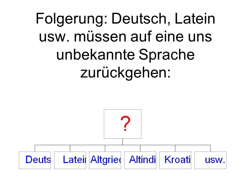 Folgerung: Deutsch, Latein usw