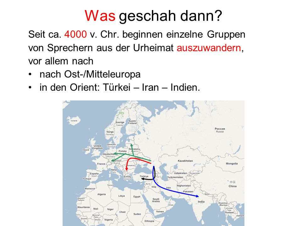 Was geschah dann Seit ca. 4000 v. Chr. beginnen einzelne Gruppen