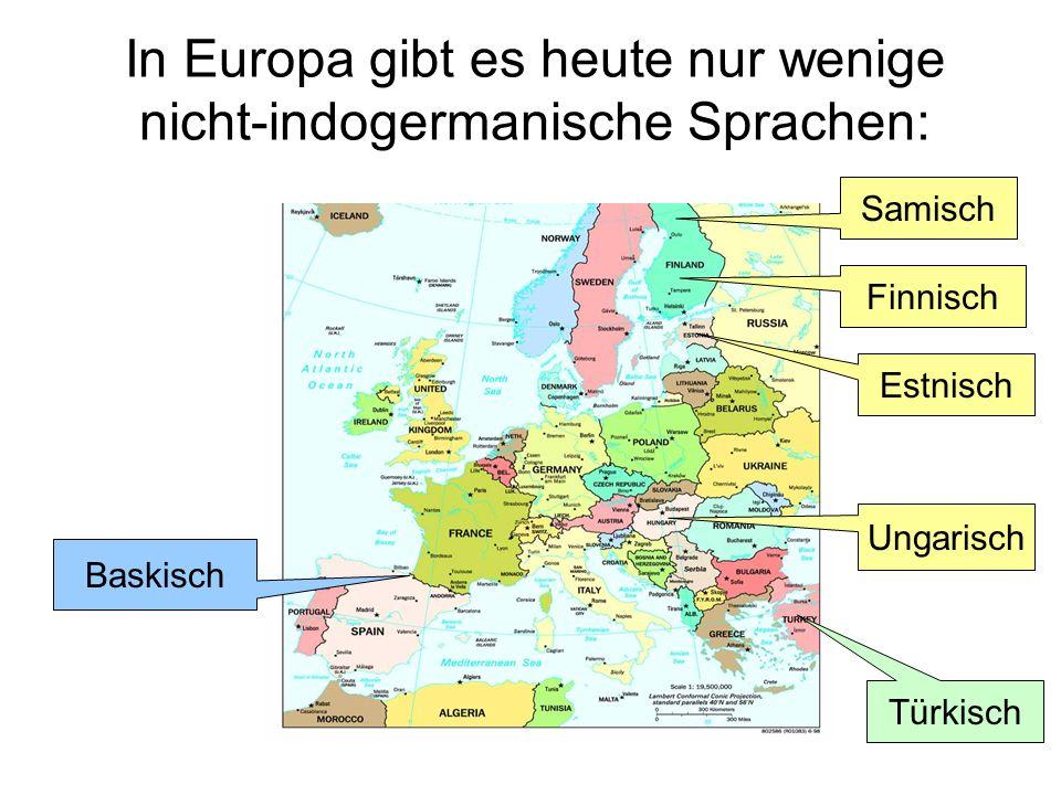 In Europa gibt es heute nur wenige nicht-indogermanische Sprachen: