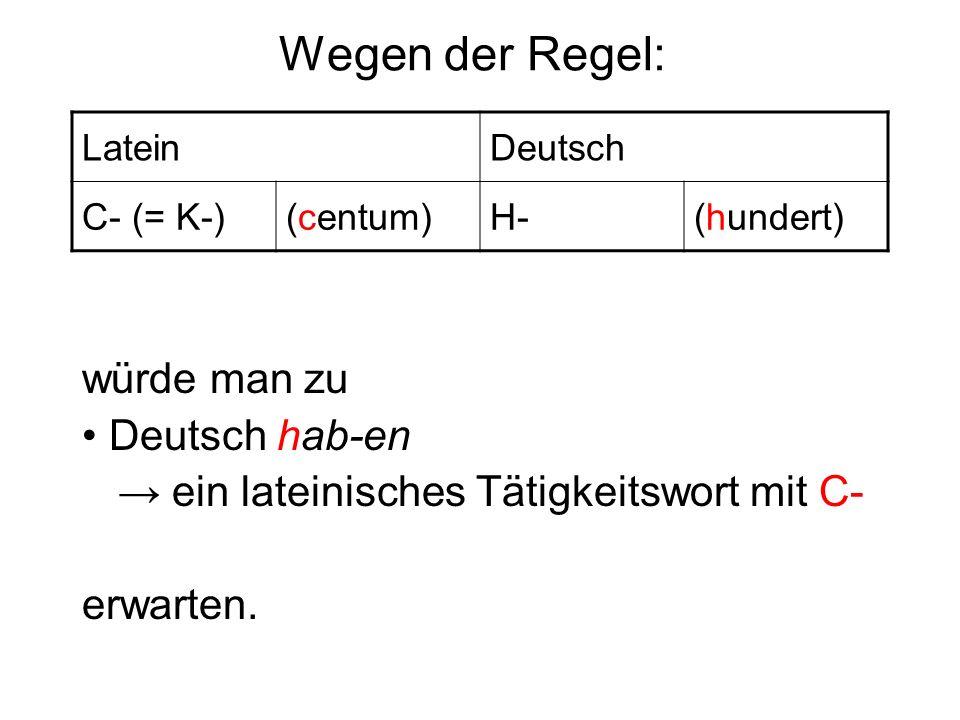 Wegen der Regel: würde man zu • Deutsch hab-en