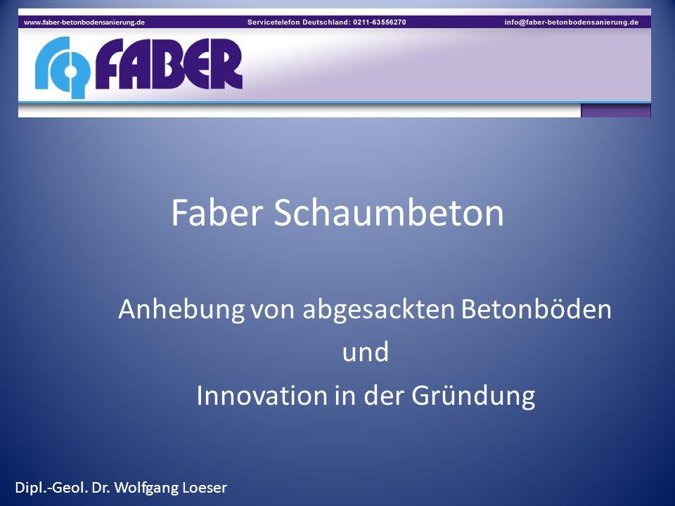 Anhebung von abgesackten Betonböden und Innovation in der Gründung