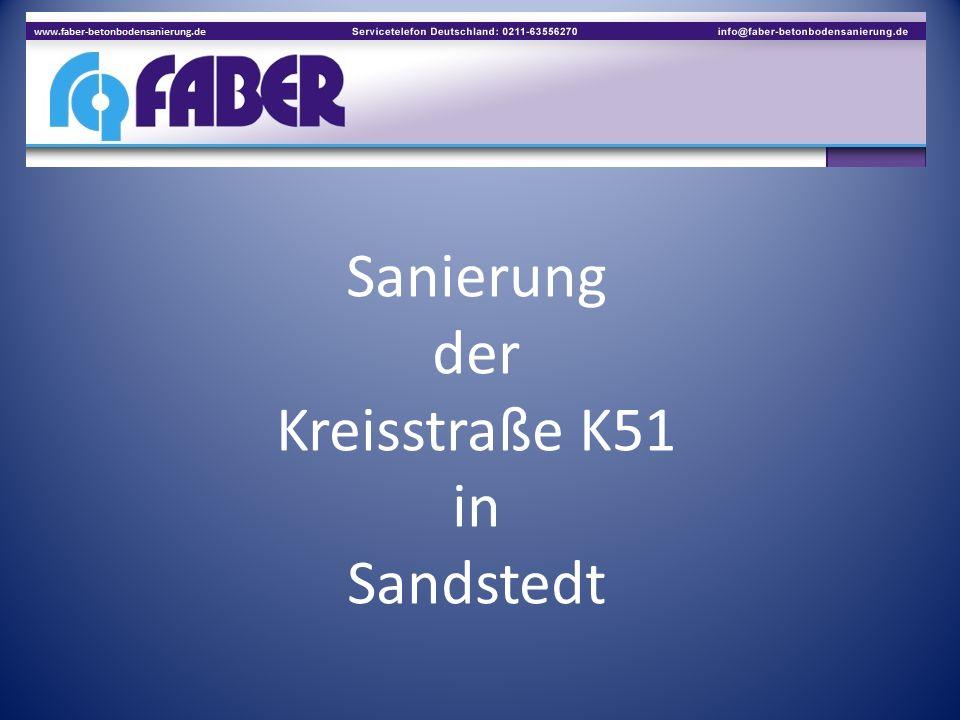 Sanierung der Kreisstraße K51 in Sandstedt