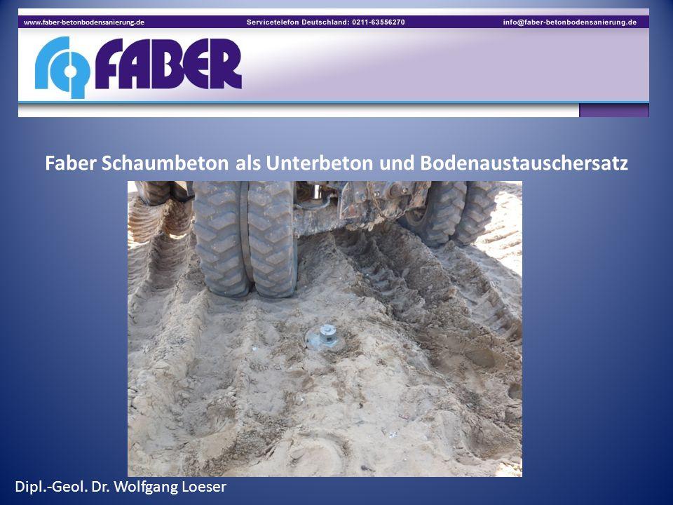 Faber Schaumbeton als Unterbeton und Bodenaustauschersatz im Hallenbau