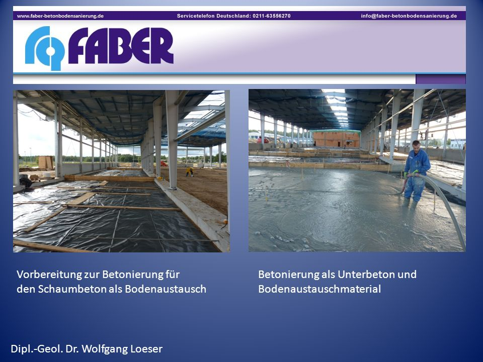 Vorbereitung zur Betonierung für Betonierung als Unterbeton und