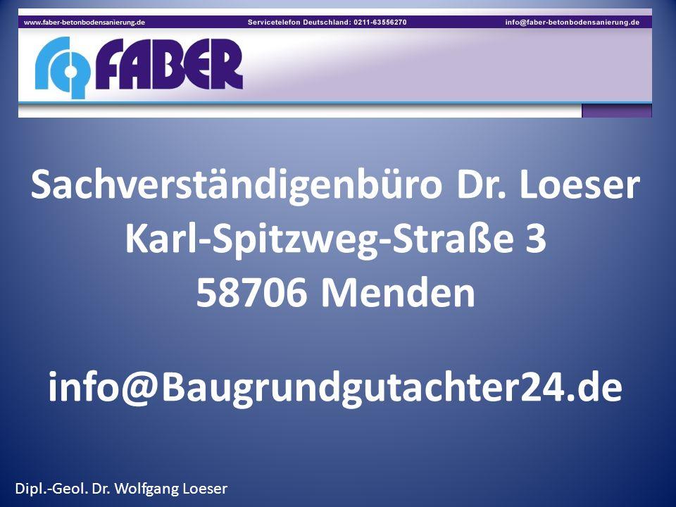 Sachverständigenbüro Dr. Loeser Karl-Spitzweg-Straße 3