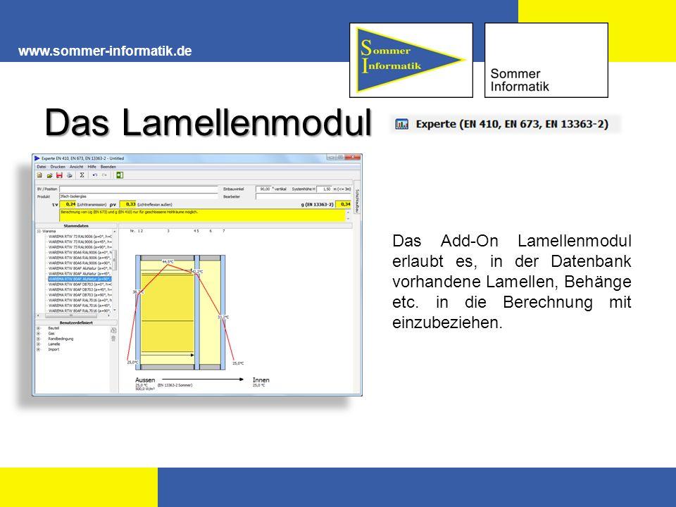 www.sommer-informatik.de Das Lamellenmodul.