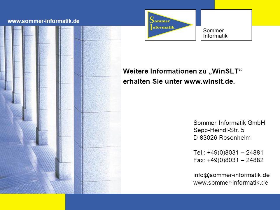 """Weitere Informationen zu """"WinSLT erhalten Sie unter www.winslt.de."""