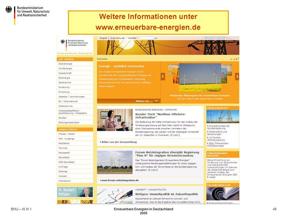 Weitere Informationen unter Erneuerbare Energien in Deutschland
