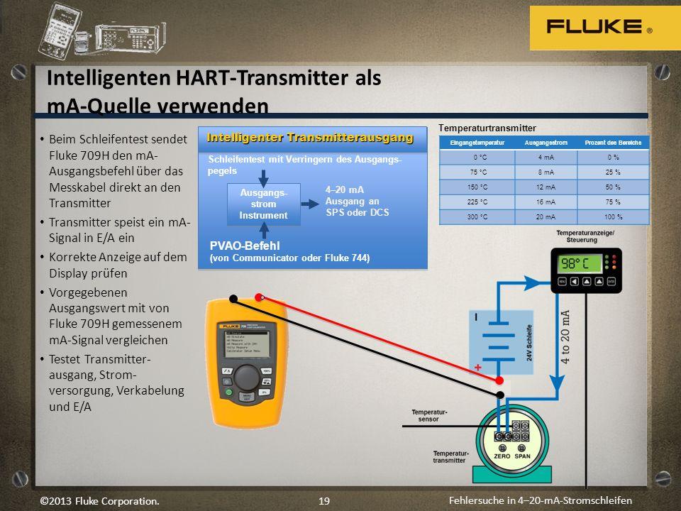 Intelligenten HART-Transmitter als mA-Quelle verwenden