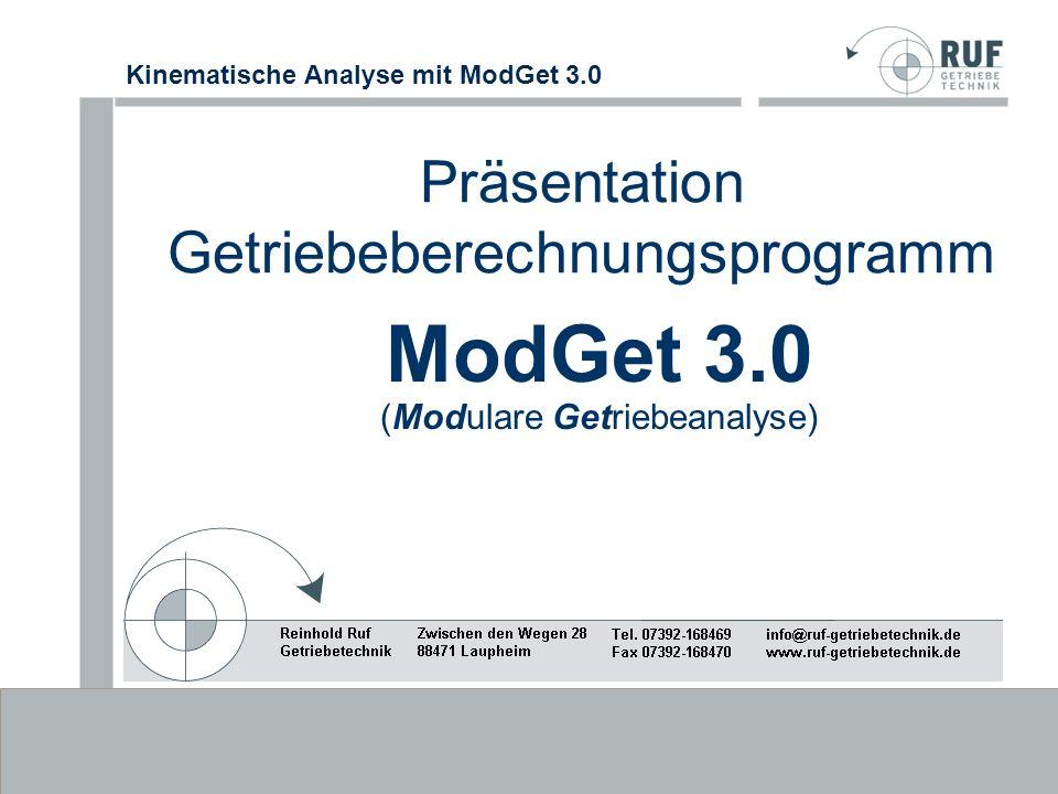 Präsentation Getriebeberechnungsprogramm