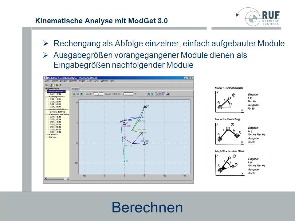 Berechnen Rechengang als Abfolge einzelner, einfach aufgebauter Module