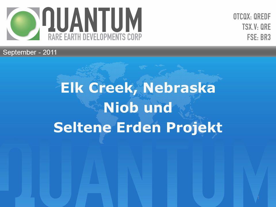 Elk Creek, Nebraska Niob und Seltene Erden Projekt