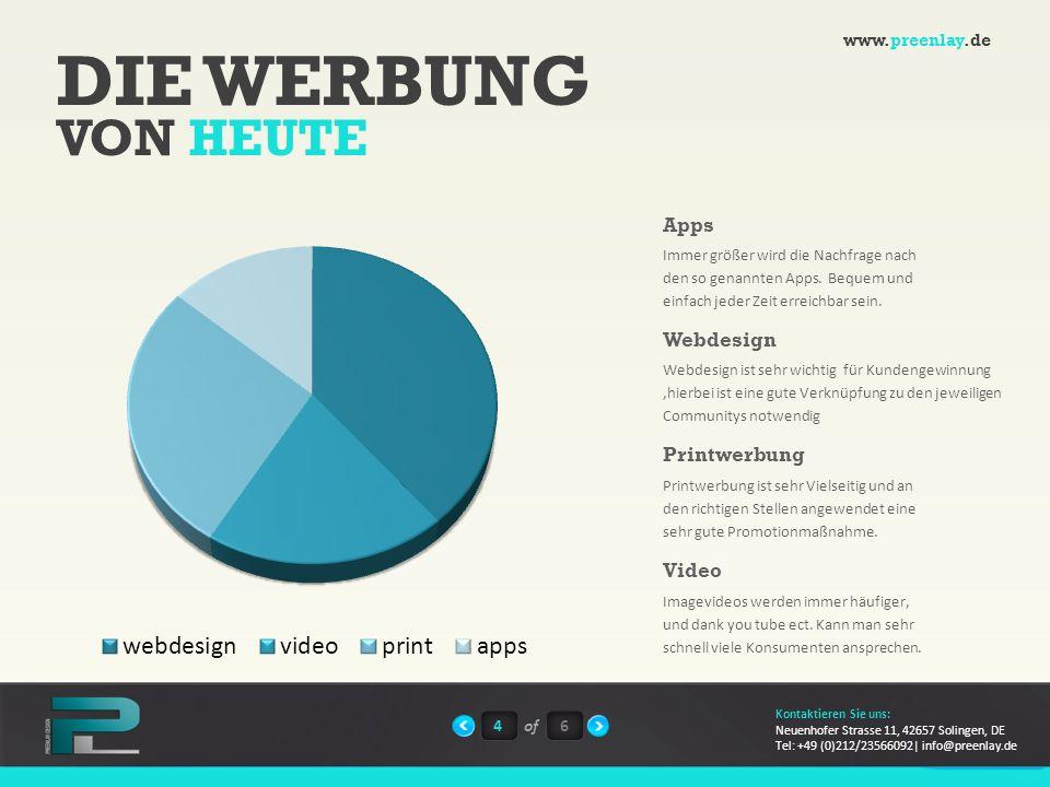 DIE WERBUNG VON HEUTE Apps Webdesign Printwerbung Video