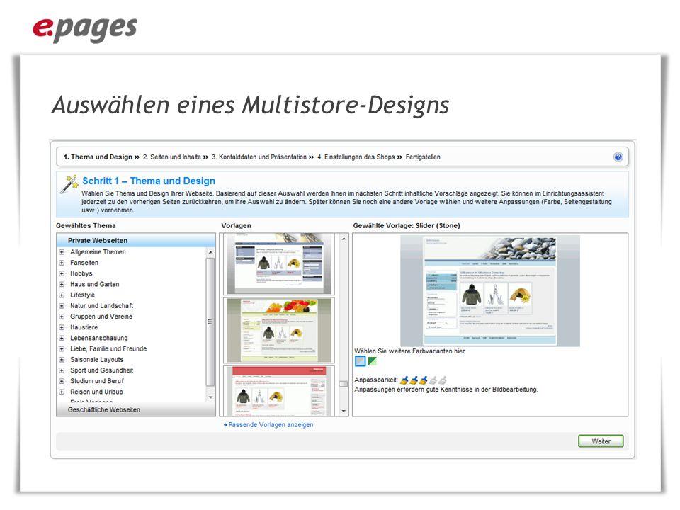 Auswählen eines Multistore-Designs